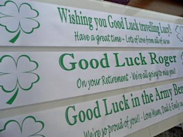 Personalised Good Luck Banner